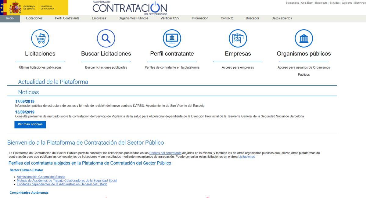 Contrataciondelestado.es Plataforma virtual de Contratación del Estado