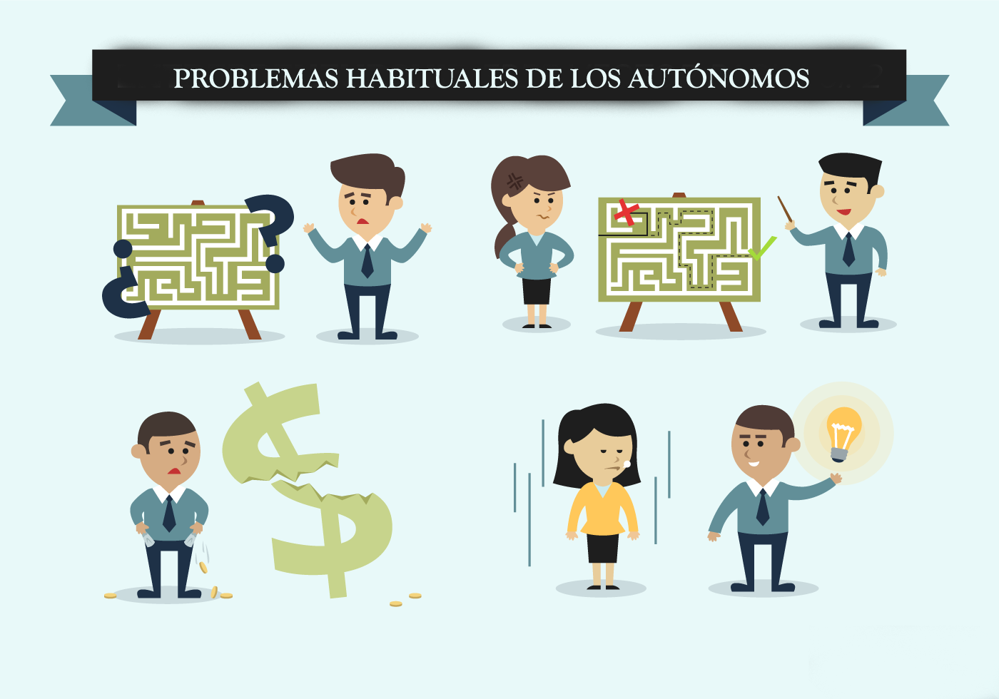 Los problemas más habituales a los que se enfrentan los autónomos y autónomas